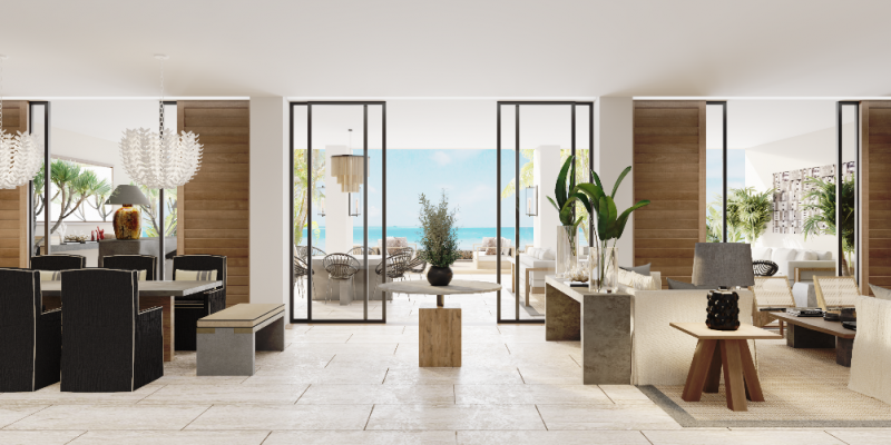 Rendering of the Presidential Beachfront Villa at Secrets Impression Moxché Playa del Carmen